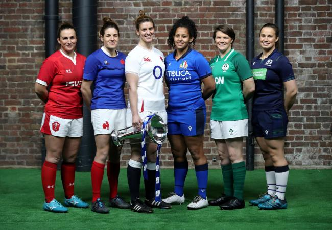 The Women's Six Nations captains (Credit: Reuters)
