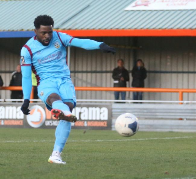 n Match winner Yemi Odubade in action earlier this season          			          Picture: MARK PROBIN