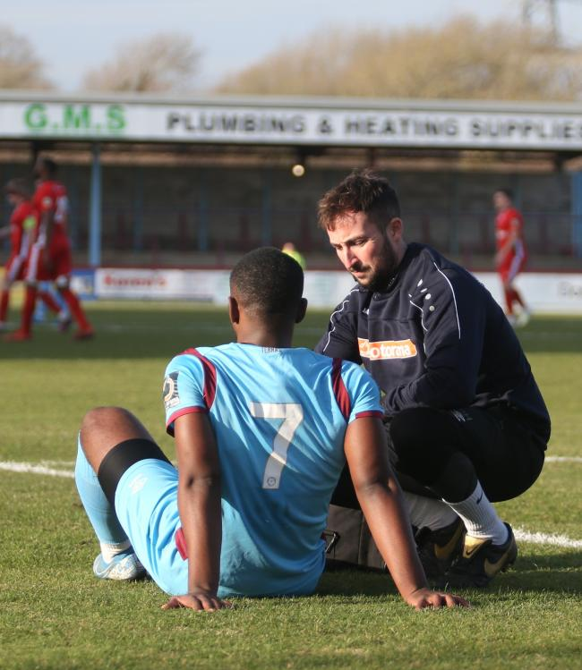 n Jordan Ngalo went off injured on Saturday			            Picture: MARK PROBIN