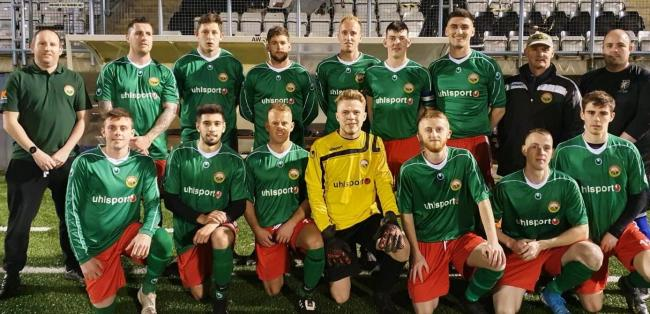 Blackmore Vale beat a Weymouth Sunday League team 9-1 in the Mick Bowes Cup 														               Picture: BVFL