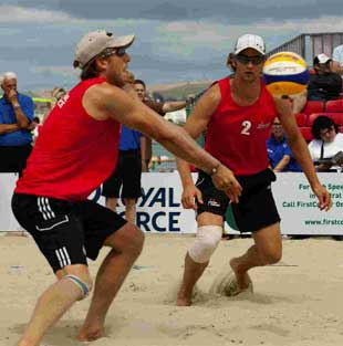RIVALS: The Cyprus team will be taking on GBR Beach Volleyball Team BrodzkiLord