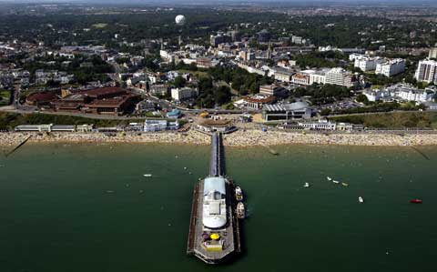 Picture: Richard Crease taken with the help of Bournemouth Helicopters.