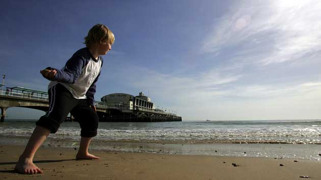 Dorset Beaches: Bournemouth Pier and beach. Photo by Corin Messer, Bournemouth Daily Echo.