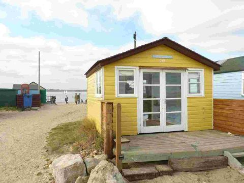 PRICEY: The beach hut for sale at £126,000