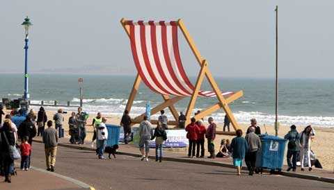 Giant deckchair coming back to Bournemouth beach