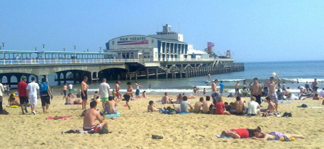 Relief as sun finally brings tourists to Bournemouth (it's hotter than Ibiza, you know)