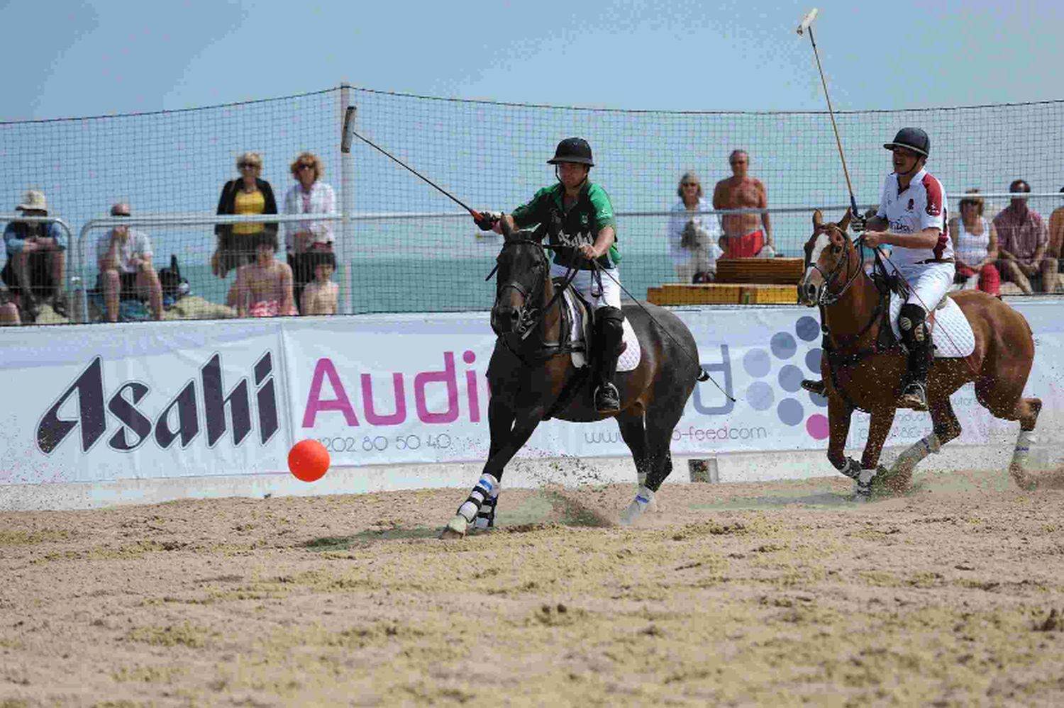 ON THE BALL: Action from the beach polo