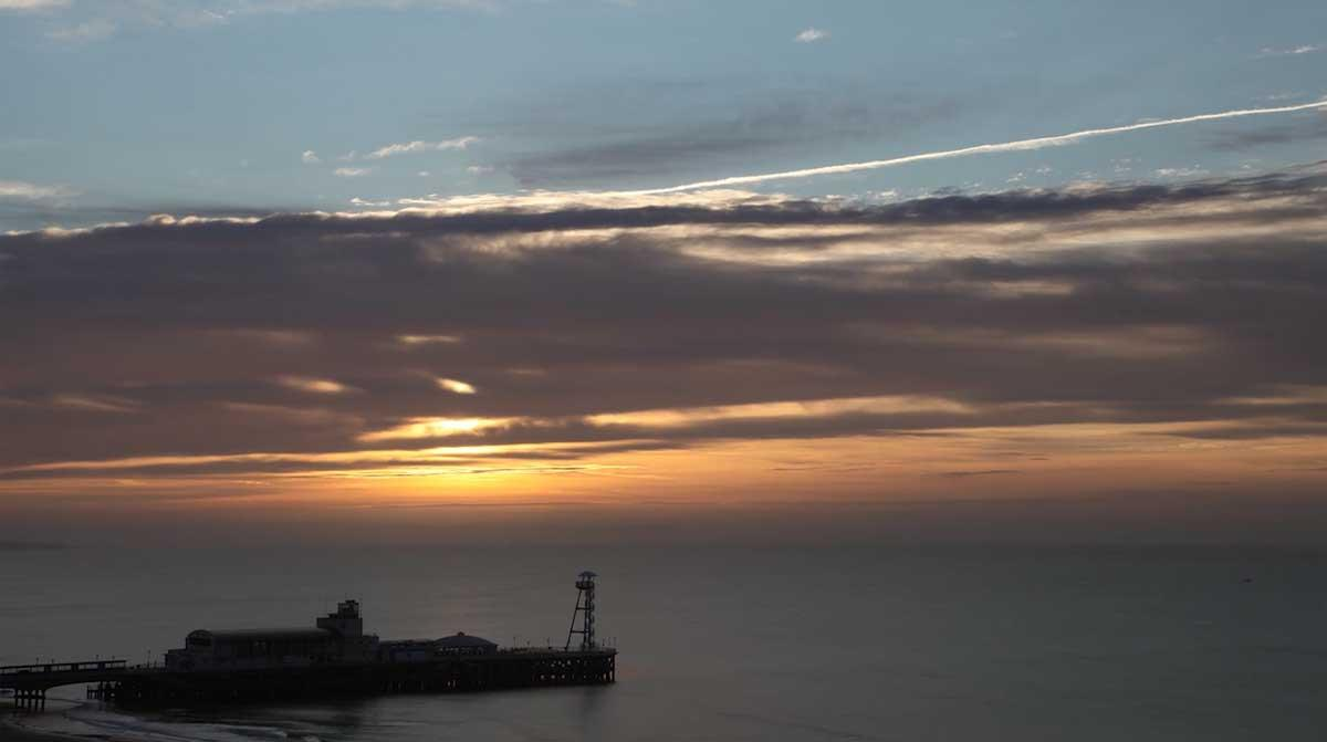 WATCH: Time-lapse of the sunrise over Bournemouth Pier this morning