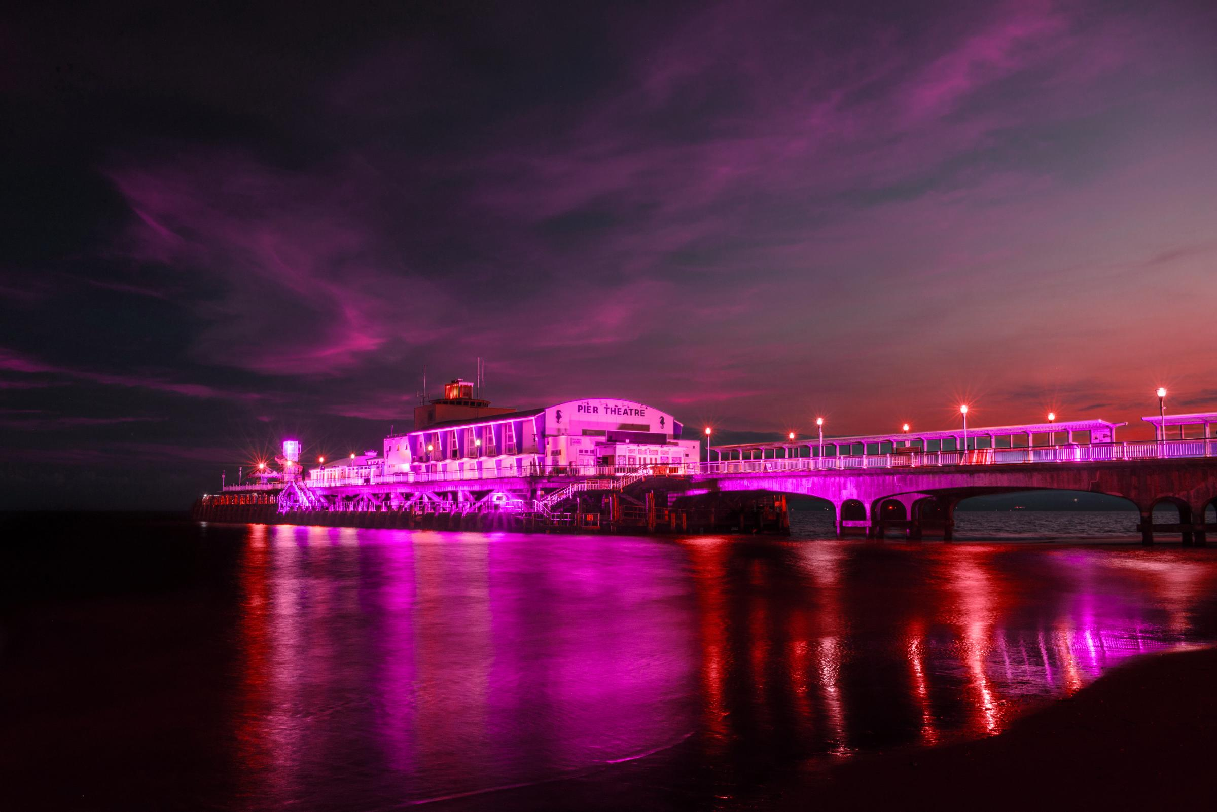 Bournemouth Pier turns purple in tribute to Prince