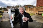 Milkman Brian Cousins who is giving up after 40 years after he was attacked by thugs in Girlington, Bradford