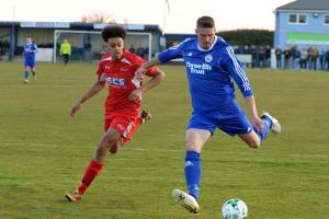 SET TO DEPART: Jamie Beasley, right, is set to join Dorchester Town