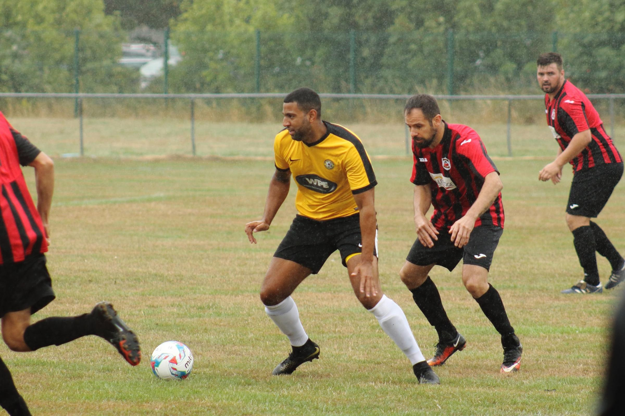 LONG LAY-OFF: Sanchez Bake, centre, will make a long-awaited return for Balti					         Picture: STEVE HUNTER