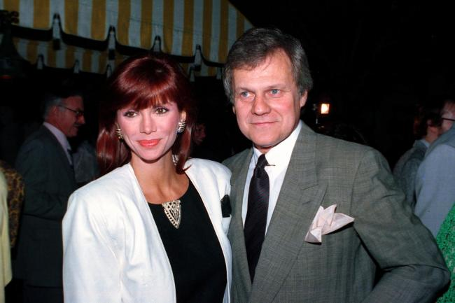 Ken Kercheval with his Dallas co-star Victoria Principal