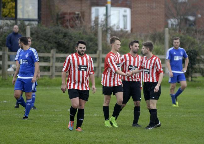 COASTING HOME: Chickerell United put five past Tisbury                                         Picture: FINNBARR WEBSTER/F19348
