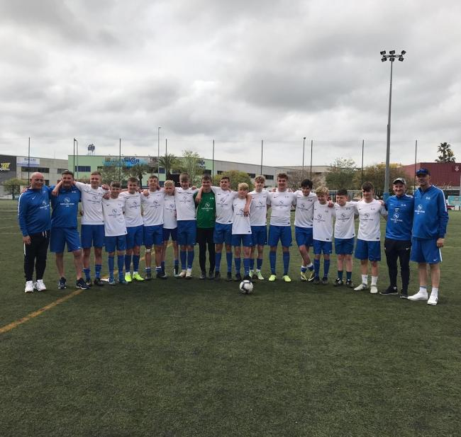 FANTASTIC FINISH: Portland Sports finished third in Spain